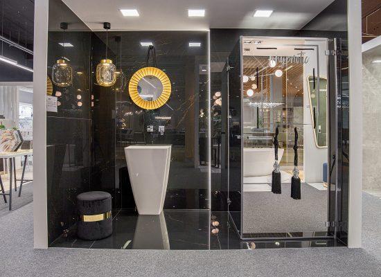 ekspozycja łazienkowa w salonie łazienek w Poznaniu